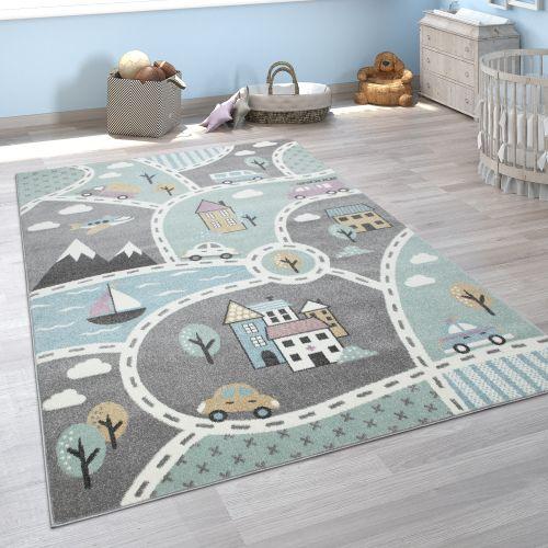 Kinder-Teppich Spiel-Straßen-Motiv