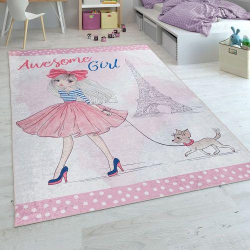 Teppich Kinderzimmer Mädchen-Design Print