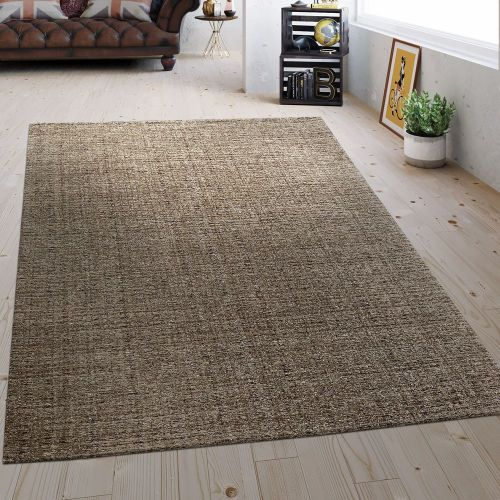 Flachgewebe Teppich Vintage Braun
