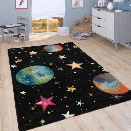 Spiel-Teppich Kinderzimmer Planeten Sterne