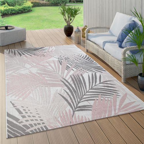 In- & Outdoor-Teppich Palmen-Muster Balkon