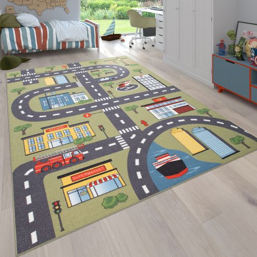 Kinder-Teppich Kinderzimmer Straßen-Motiv
